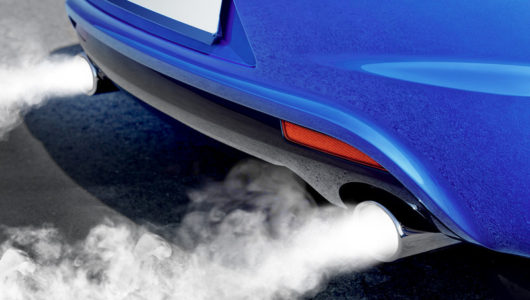 smoke from exhaust